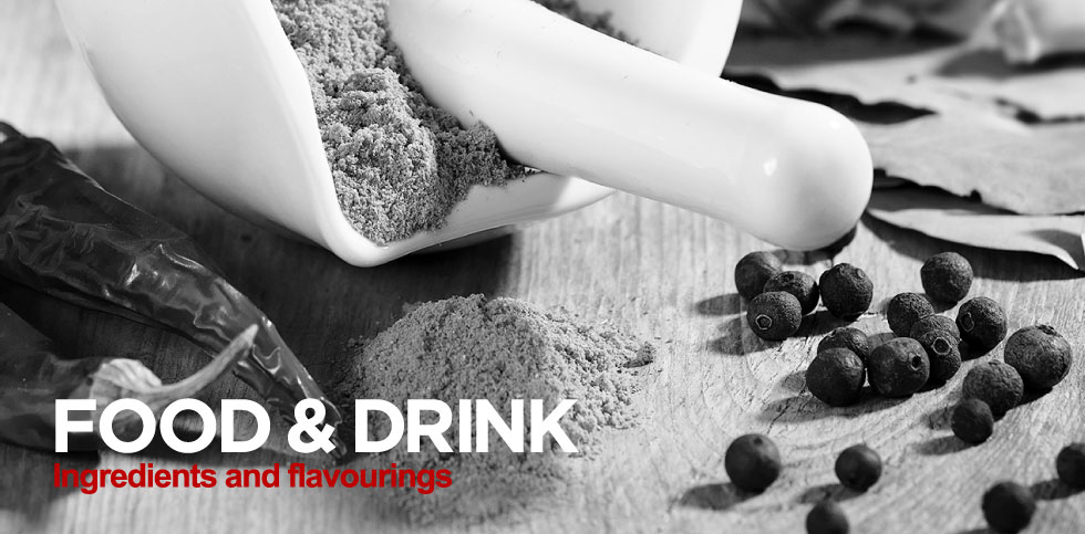 food and drink ingredients and flavourings